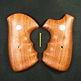 RUAYMAK HANDIWORKGRIPS ROSEWOOD GRIPS SMITH&WESSON REVOLVERS N FRAME, SQUARE BUTT HANDMADE SILVER MEDALLIONS FINGER GROOVE SPORT OUTDOOR SWN-129