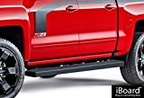 5 inch running boards - iBoard (Black Powder Coated 5 inches) Running Boards | Nerf Bars | Side Steps | Step Rails For 2007-2018 Chevy Silverado / GMC Sierra Crew Cab