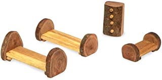 product image for Magic Cabin Rustic Tree Block Bedroom Furniture Set, 4 Pieces