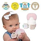 MITTEEZ Organic Premium Teething Mitten and Keepsake for Babies 0-6 Months - Pink