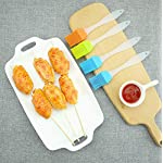 FDIO 5 Pcs Silicone Pastry/Basting/Oil Brush,Kitchen Gadgets for BBQ,Meat,Grilling,Cakes,(Multicolor) 18 MATERIAL: The oil brush head is made of food-grade silicone, which can withstand high temperature. The handle is environment-friendly PP which is non-toxic and durable FIVE COLOR TO CREATE FOOD: Including multiple colour 5 silicone brushes in one set, vibrant colors, avoid flavor crossing by using one color for different seasoning LIGHTWEIGHT DESIGN: The lightweight handle provides a soft comfortable firm grip making basting easy, quick and effortless coating action, can be used in many applications