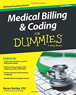 medical billing and coding for dummies 9781118021729 medicine rh amazon com medical billing and coding study guide 2018 free medical billing and coding exam study guide