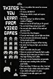 Things You Learn from Video Games Poster Print Poster Poster Print, 24x36