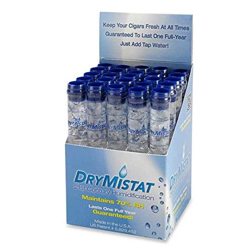 DryMistat Humidor Humidifier Tubes, Crystal Humidity Tubes (25 CT) by DryMistat