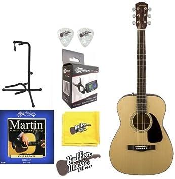 Fender CF-60 parte superior sólida guitarra acústica Folk W ...