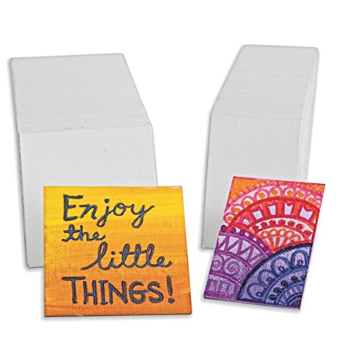 Fredrix Cut Edge Mini Canvas Panels 60-Pack 2(3/4) x 2(3/4)
