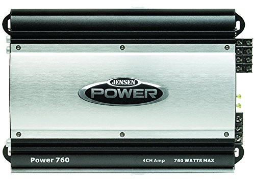 Jensen POWER760 Four Channel 760 Watt Class B Amplifier, High Current Bi-polar Output Transistors, Built-in Low-pass and High-pass Crossover Filters for Bi-amplifying the System