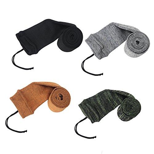 Tourbon Silicone Oil Treated Knit Fabric Shotgun Rifle Storage Gun Sock 52 Inch (pack of 4 pieces )