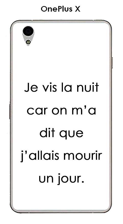 Carcasa OnePlus X Design citación Je Vis La Noche Texto ...