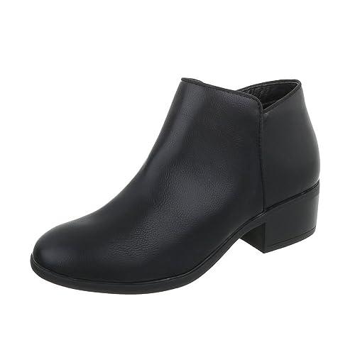 Ital-Design Zapatos para Mujer Botas Tacón de Vaquero Botines Camperos: Amazon.es: Zapatos y complementos