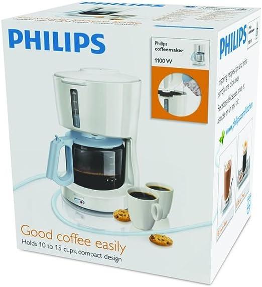 Philips N HD7452/70 Azul y blanca de cristal - Cafetera ...