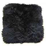 Ustide Genuine Australian Sheepskin Rug One Pelt Ivory Natural Fur Rugs for Living Room, 1.64'x3.9′, Black For Sale