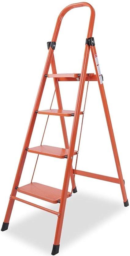 RMXMY Escalera de tijera Plegable Taburete de paso Ligero Aluminio, Multi propósito, Casa y cocina portátiles 4 Escaleras de tijera con bandeja para proyectos de herramientas (Escalera de 4 escalones): Amazon.es: Coche