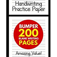 Handwriting Practice Paper for Kids: Bumper 200-Page Dotted Line Notebook (Handwriting Practice Paper Notebook / Blank Handwriting Practice Books For Kids)
