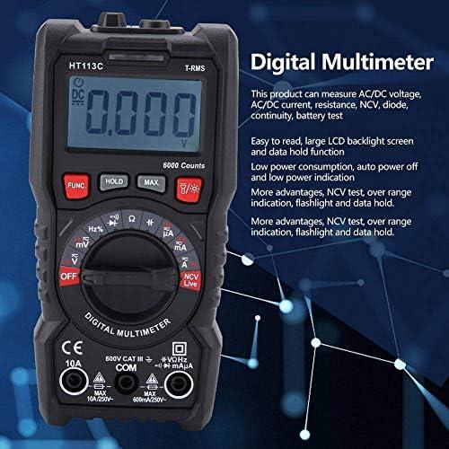YIONGA CAIJINJIN Multimeter Digital Multimeter, HT113A/HT113B/HT113C Handheld LCD Display Digital Auto/Manual Range Portable Equipment Industrial Meter(HT113C)