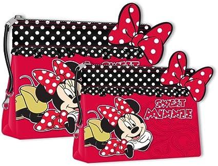 Mickey & Minnie Polka Artículos de Tocador y Maquillaje - 1 Pack: Amazon.es: Belleza