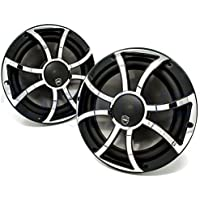 Wet Sounds REVO CX-10 XS-B-SS Black & Stainless XS Grill 10 Inch Marine High Performance LED Coaxial Speakers (pair)