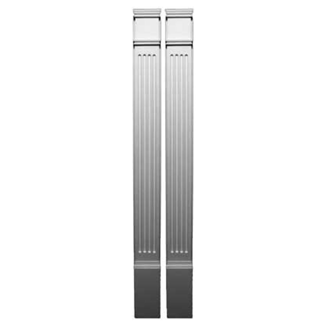 Fypon PIL4X83 4 1/2''W x 82 3/4''H x 1 1/8''P Fluted Pilaster, Moulded with Plinth Block (Set of 2), 1 Piece