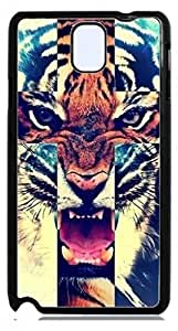 HeartCase Hard Case for Galaxy Note 3 III N9000 ( Tiger Roar Cross Hipster Quote )