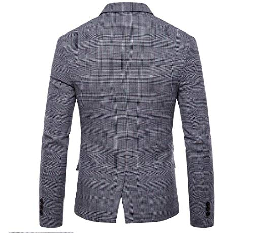 Oversized Jacket Blazer Plaid Premium Casual Light Business AngelSpace Mens Grey wqT15F