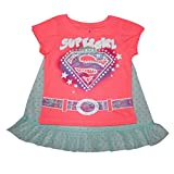 2 PCS SET Infant Girls SUPERGIRL Glitter T-Shirt