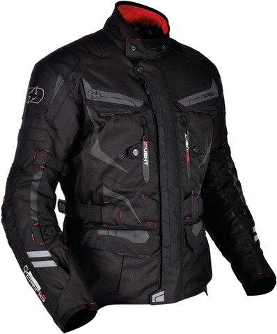 Waterproof Touring Textile Motorcycle Jacket Tech BlackS38 ()