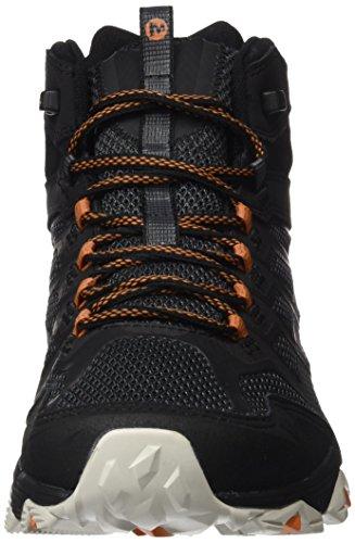 Pour Orange tex Fst De Mid Hautes Hommes Randonne noir Moab Merrell Chaussures Gore q6t7O