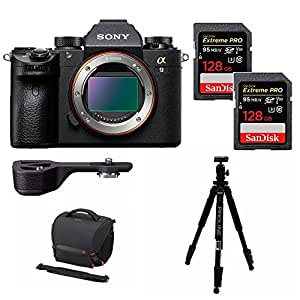 Sony a9 Full Frame Mirrorless w/ Sony GPX1EM Grip Extension + 256GB Bundle