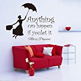 Room Decor Wall Decal Quotes with Grils Removable Vinyl Wall Sticker Inspiration for Home Office