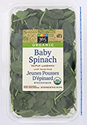 365 Everyday Value, Organic Baby Spinach...