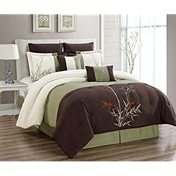 Amazon Com 12 Pieces Brown Beige Bamboo Leaves Tropical