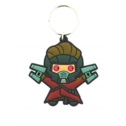 GUIZMAX Llavero Kawaii Star Lord Marvel 6 cm Llavero: Amazon ...