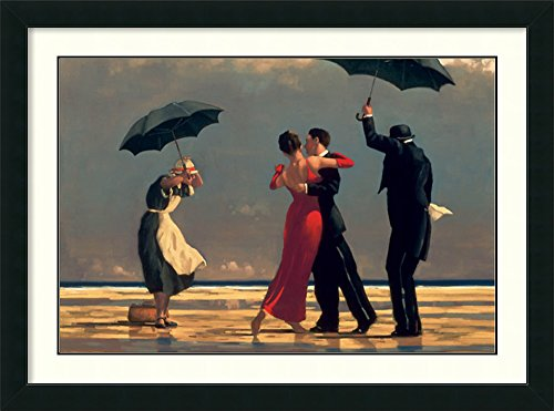 (Framed Wall Art Print | Home Wall Decor Art Prints | The Singing Butler by Jack Vettriano | Modern Contemporary Decor)