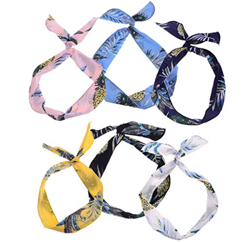 Womens Fashion Bow Rabbit Bunny Ear Ribbon Hair Band Wire Headband Wrap Gift