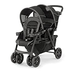 For infants, The Chicco Cortina together double stroller accepts two key Fit or Fit2 car seats, one in each seat. (Sold separately) The front seat folds forward and the rear seat reclines to accept the car seat with integrated click-in attach...
