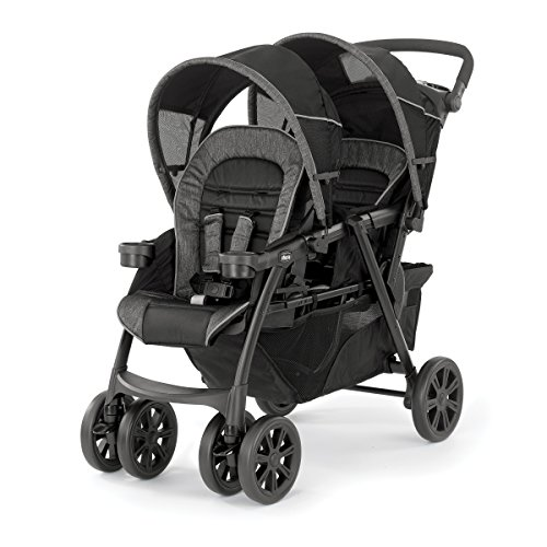 Chicco Cortina Together Double Stroller, Minerale (Cortina 30 Travel Keyfit System)