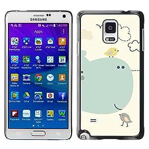 Paccase / SLIM PC / Aliminium Casa Carcasa Funda Case Cover para - Kids Drawing Cute Mother Mom Child - Samsung Galaxy Note 4 SM-N910F SM-N910K SM-N910C SM-N910W8 SM-N910U SM-N910