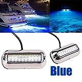 Stainless Steel 27LED Blue Underwater Pontoon Marine/Boat Transom Lights