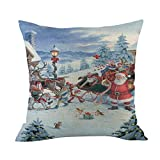 NUWFOR Merry Christmas Cushion Cover Square Pillow Case Home Decor(G)