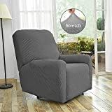 Fancy-Linen-Sure-Fit-Stretch-Sterling-Recliner-Slipcover-Solid-Light-Grey-New--Stella