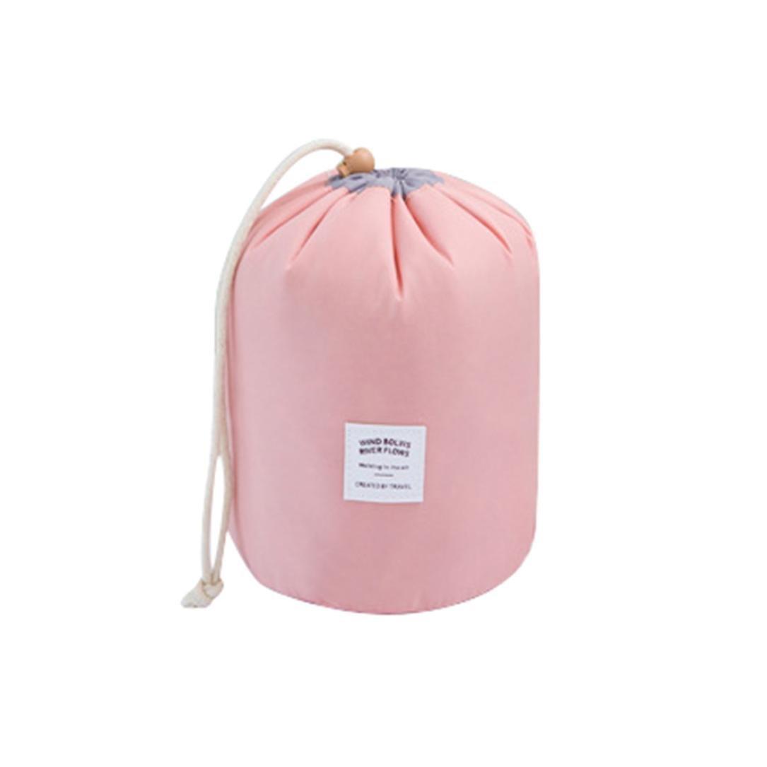 Ularma Cosmetic Jewelry Drawstring Toiletry Makeup Travel Storage Bag Case (Pink)