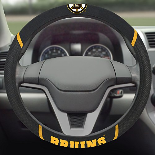FANMATS  14842  NHL Boston Bruins Polyester Steering Wheel Cover