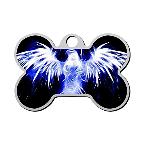 - GcTck ice Eagle Pet ID Dog Tag Engraved Bone Personalized Pet Identity Chain Custom Cat Clip with Name Ownner Number Double Sided Full Page Print
