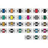 Jeter 2500 Compatible Alpha Labels, Laminated Stock, 15/16'' X 1-5/8'', Starter Set - 27 Rolls of 500