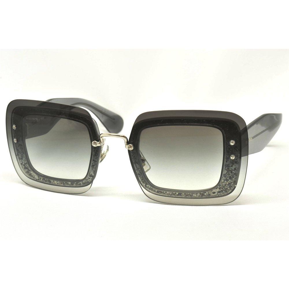 Miu Miu Unisex Sonnenbrille MU01RS, Grau (Grey UES0A7), One size (Herstellergröße: 67)