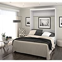 Bestar Boutique Murphy Wall Bed Queen - White