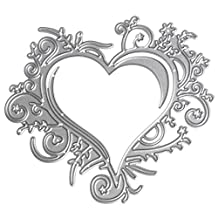 Bottone Heart Lace Metal Cutting Dies Stencils Scrapbooking Embossing Album Paper Card Craft DIY Gift