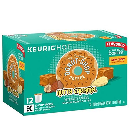 (Donut Shop Nutty Caramel Coffee K-Cups, 12 Ct. Box (Retail Packaging))