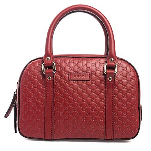(Gucci Peonia Pink Purple Bree Guccissima Leather Small Shopping Tote Bag)