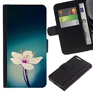All Phone Most Case / Oferta Especial Cáscara Funda de cuero Monedero Cubierta de proteccion Caso / Wallet Case for Apple Iphone 6 PLUS 5.5 // verde blanco azul primavera flor rosa